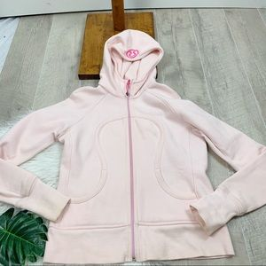 lululemon athletica Jackets & Coats - Lululemon Pink Hooded Zip Front Scuba Jacket